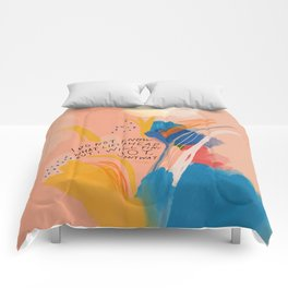 Find Joy. The Abstract Colorful Florals Comforters