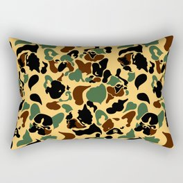 Frenchie Camouflage Rectangular Pillow