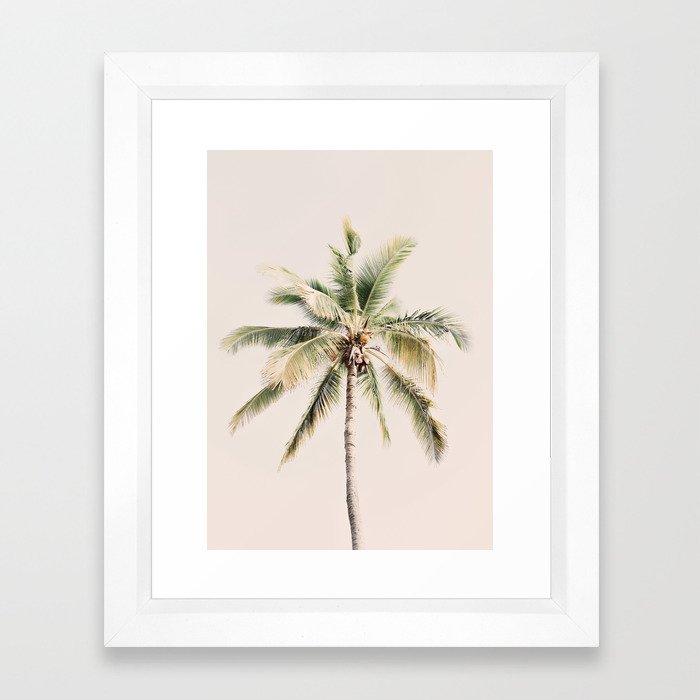 Tropical Palm Tree Framed Art Print