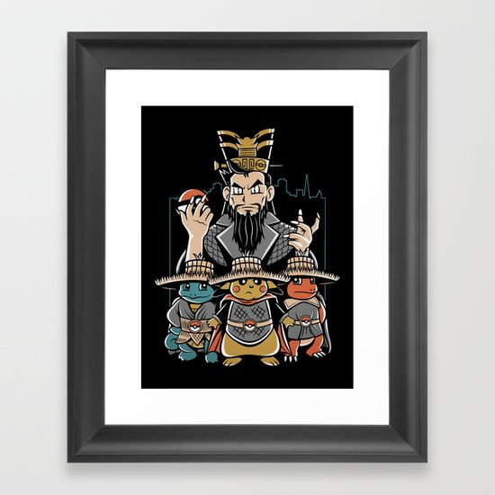 Big Trouble in Little Kanto  Framed Art Print