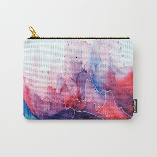 Watercolor magenta & cyan, abstract texture Carry-All Pouch