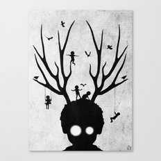 dear imaginary friends (black and white) Canvas Print