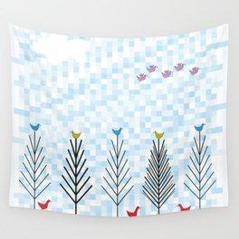 Treetop Birds Wall Tapestry