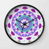 mandela Wall Clocks featuring Mandela Magic by RokinRonda