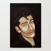 alex turner Canvas Prints featuring Alex Turner by Alfonso Aranda