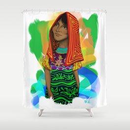 Ustup - kuna/guna girl Shower Curtain