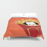 potato Duvet Covers featuring potato chips by Raimondo Tafuri