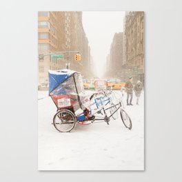 NYC Snow Day on Central Park West Canvas Print