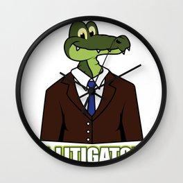 Lawyer Attorney wordplay alligator Wall Clock
