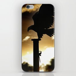 Golden Eagle Sunset iPhone Skin