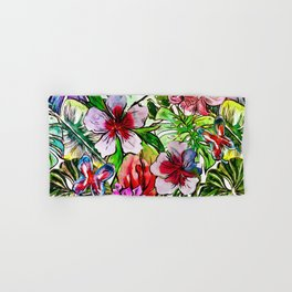 Tropical Flower Hibiscus Garden Hand & Bath Towel