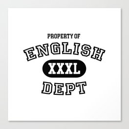 Property of the English Department Canvas Print