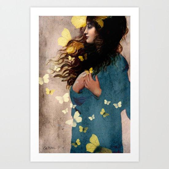 Bye Bye Butterfly Art Print