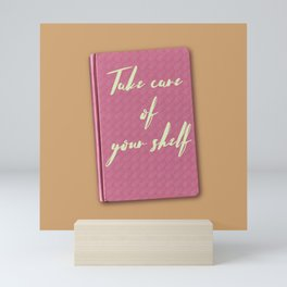 Thinking of you & your books Mini Art Print