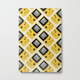 Gameboy Color: Yellow (Pattern) Metal Print