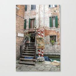 Venezia -La trattoria Canvas Print