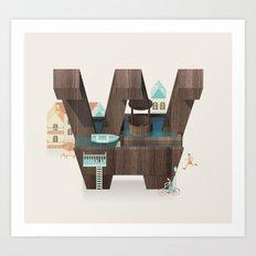 Resort Type - Letter W Art Print