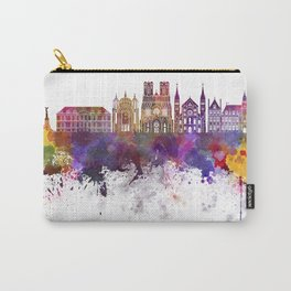 Reims skyline in watercolor background Carry-All Pouch