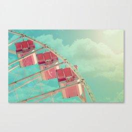 Cotton Candy Dreams, Ferris Wheel Print, Shabby Chic, Vintage Carnival, Nursery Decor Canvas Print