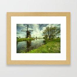 Kinderdijk Reflections  Framed Art Print
