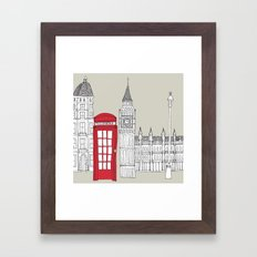 London Red Telephone Box Framed Art Print