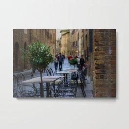 San Gimignano Cafe Metal Print