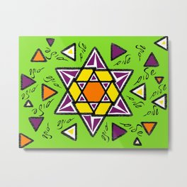 Shalom Star of David - 5 Metal Print