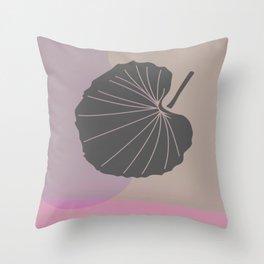 Minimal Fall Leaf After Rain Throw Pillow