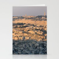 israel Stationery Cards featuring Jerusalem Living in Israel by Rachel J