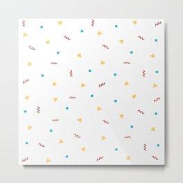 90's Pattern Metal Print