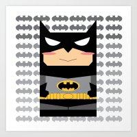 superhero Art Prints featuring Superhero by Xiao Twins