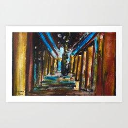 Under The Broadway Bridge Art Print