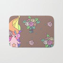 "Vector pattern series of ""Unicorns time"". Art for kids. Bath Mat"