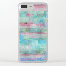 80s Pastel Glitch Clear iPhone Case
