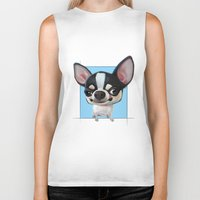 chihuahua Biker Tanks featuring Chihuahua by joearc