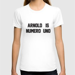 Arnold Is Numero Uno Mens Ringer Retro Birthday T-Shirts T-shirt