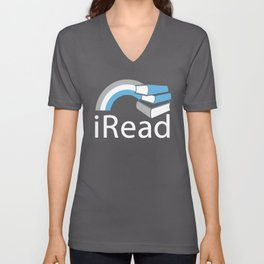 i Read | Book Nerd Slogan Unisex V-Neck