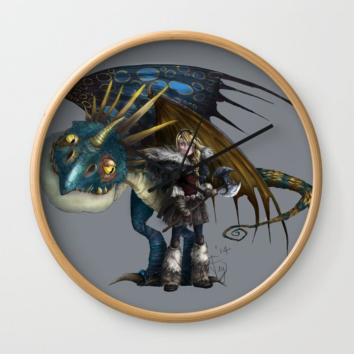astrid & stormfly HOW TO TRAIN YOUR DRAGON 2 Wall Clock