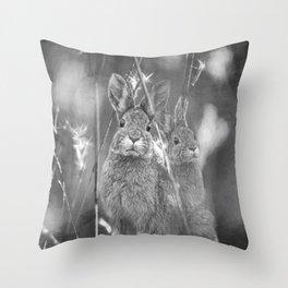 Bunnies Throw Pillow