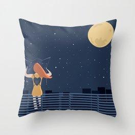 artista viaggiatore Throw Pillow