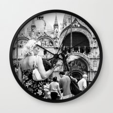 Birds of a Feather - St. Marks Square Italy Wall Clock