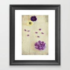 Violet sweets Framed Art Print