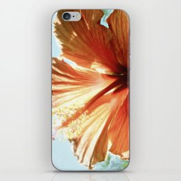 Coral Hibiscus iPhone Skin