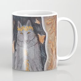 Wolf and flower crown Coffee Mug