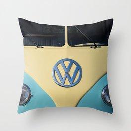 Hippie Van - Splittie Throw Pillow