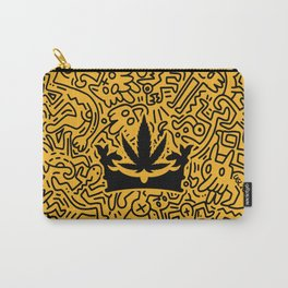 """Uptown Growlab """"Calm in the Chaos"""" Cannabis Crown Print  Carry-All Pouch"""