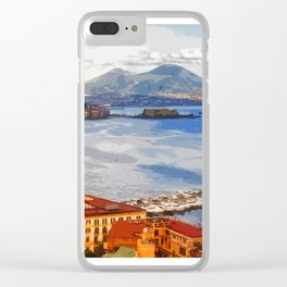 Italy. The Bay of Napoli Clear iPhone Case