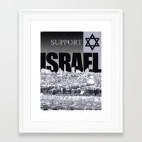 israel Framed Art Prints featuring Support Israel by politics