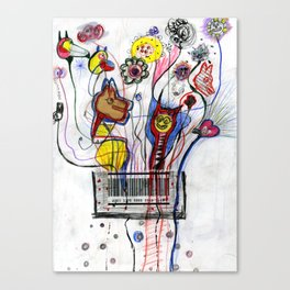 Barcode Party Canvas Print
