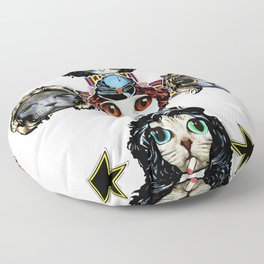 Cats N Roses Floor Pillow